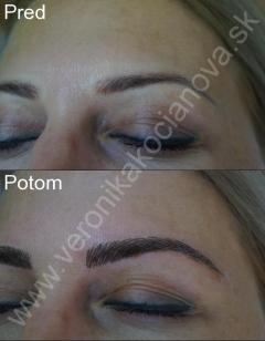 Najkrajší permanentný make-up obočia
