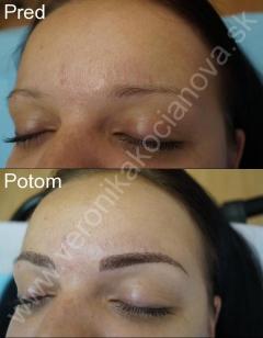 Permanentný make-up obočia čiarkovaním Veronika Kocianová Bratislava