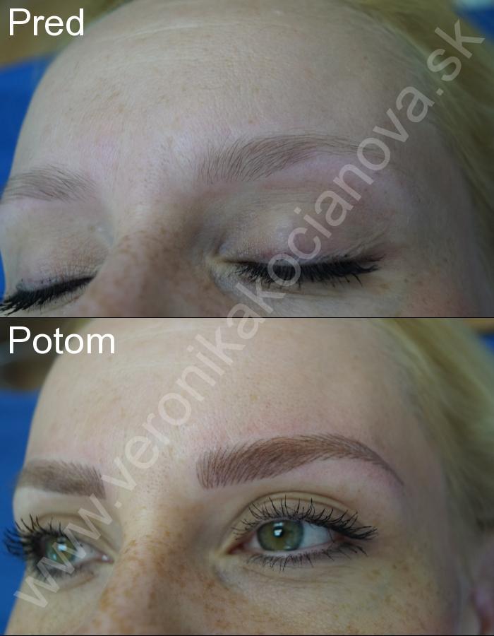 Permanentný make-up obočia čiarkovanou metódou Bratislava