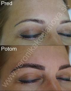 Permanentný make-up obočia, pier a očných liniek