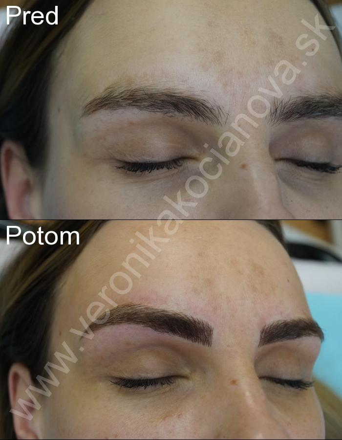 Permanentný make-up púdrové obočie Veronika Kocianová Bratislava