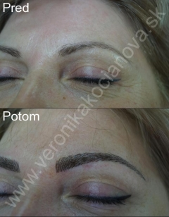 Profesionálny permanentný make-up obočia