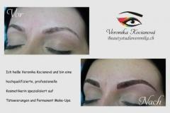 Permanentný make-up obočia čiarkovanou metódou Veronika Kocianová Bratislava