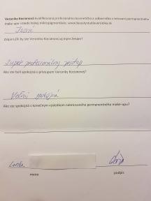 Referencie obočie microblading čiarkovaná metóda profesionálka a odborníčka Veronika Kocianová