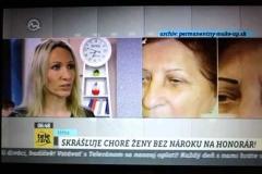 Veronika Kocianová v Teleráno/TV Markíza, permanentný make-up, 29.10.2014