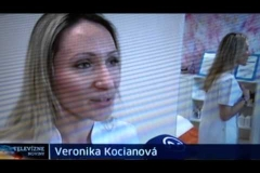 Veronika Kocianová v TV Markíza/TV Noviny - permanentný make-up 26.12.2014